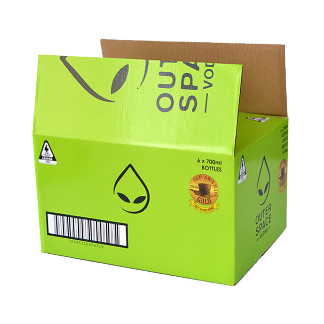 Color Print 24 Pack Beer Corrugated Paper Box